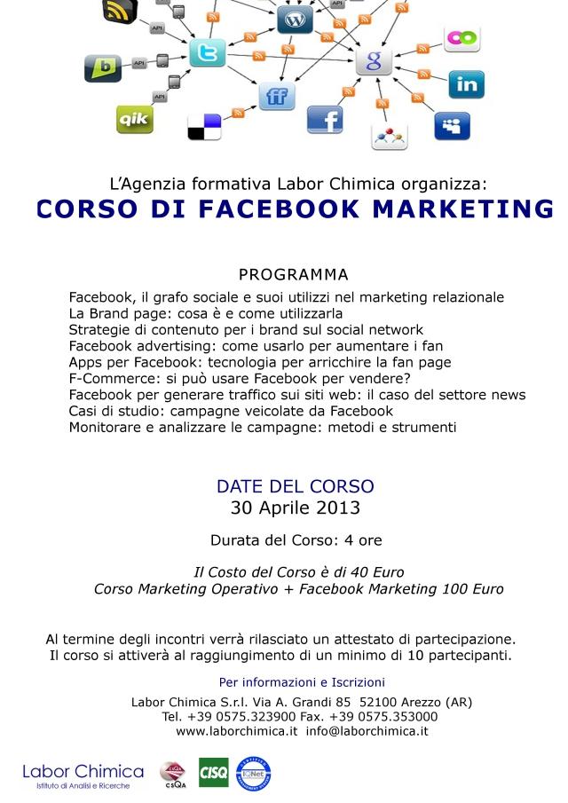 Corso di Facebook Marketing (Labor Chimica)